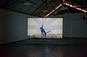 Double back projection - Installation shot